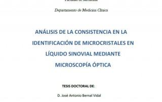Análisis de la consistencia en la identificación de microcristales en líquido sinovial mediante microscopía óptica