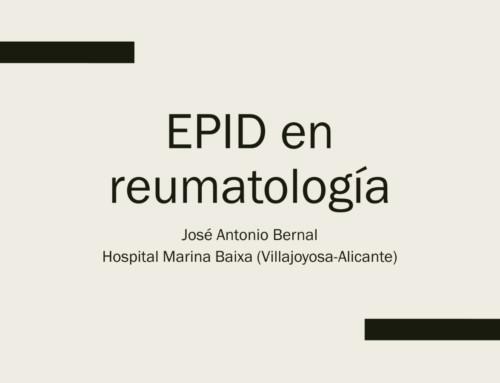 EPID en reumatología