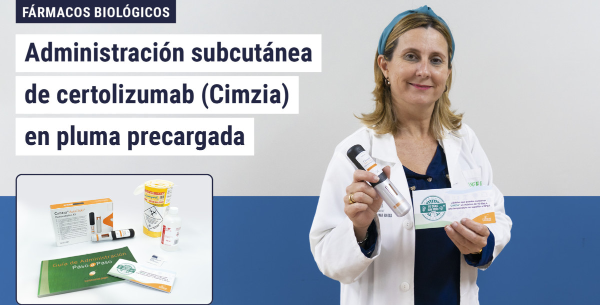 Administración subcutánea de certolizumab (Cimzia) en pluma precargada