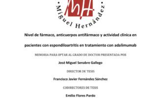 Nivel de fármaco, anticuerpos antifármaco y actividad clínica en pacientes con espondiloartritis en tratamiento con adalimumab