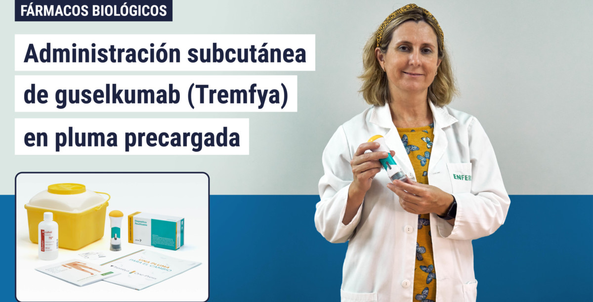 Administración subcutánea de guselkumab (Tremfya) en pluma precargada