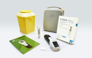Administración subcutánea de certolizumab (Cimzia) con dispositivo electrónico ava