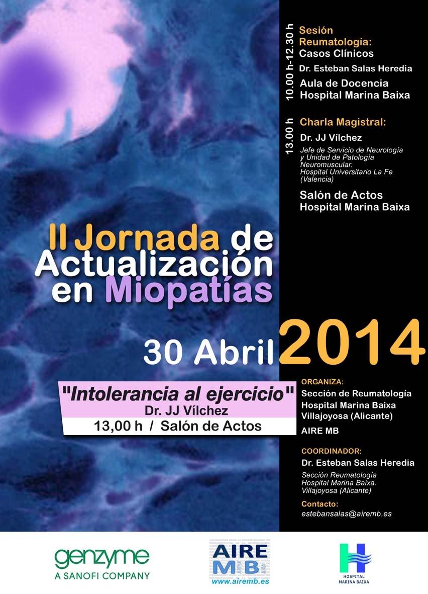 II Jornada de Actualización en Miopatías (30 de Abril de 2014)