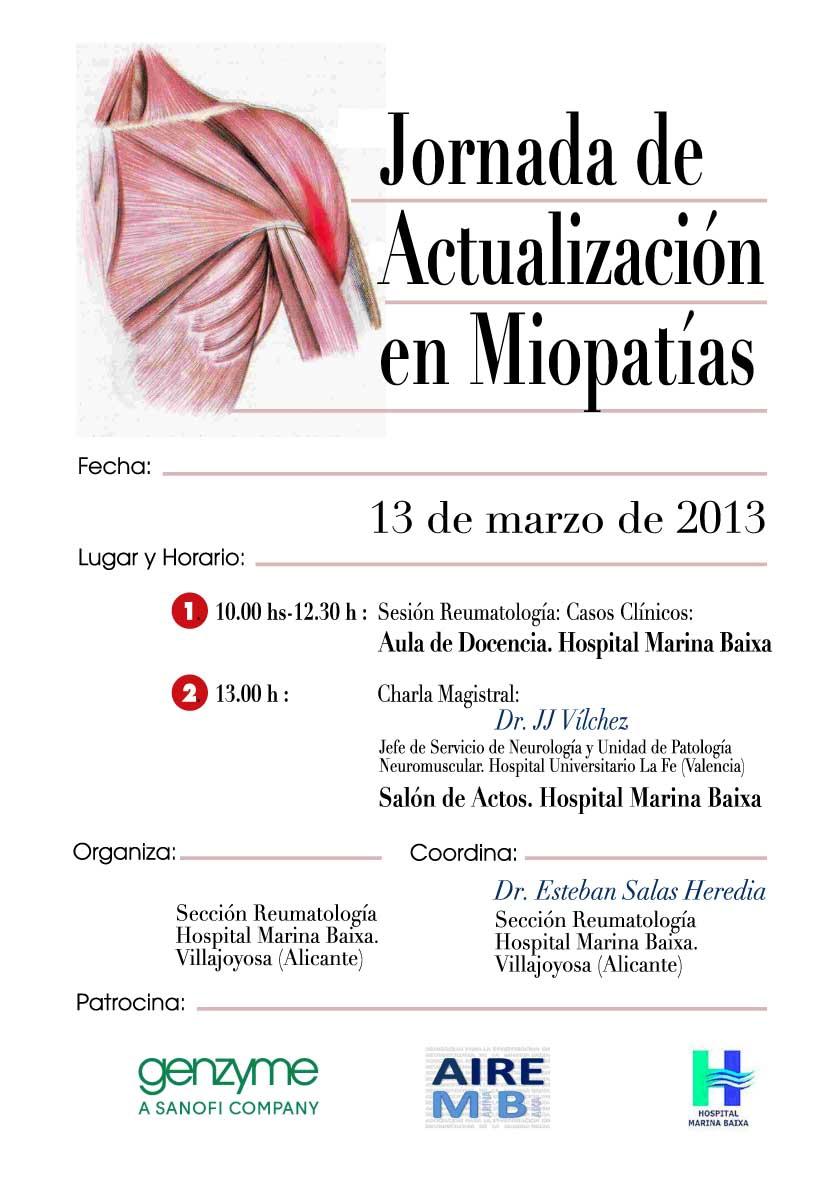 Jornada de Actualización en Miopatías (13 de Marzo de 2013)