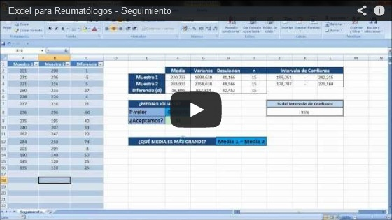 Excel para Reumatólogos – Seguimiento